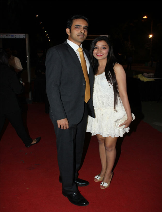 Pallavi Purohit with husband Prashant