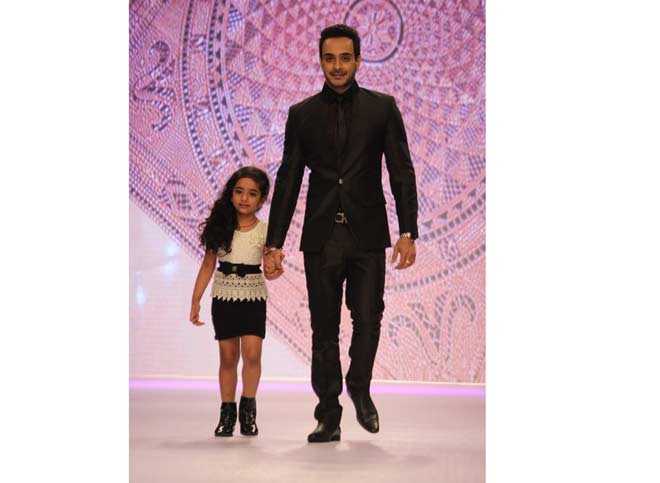 Angad Hasija with daughter