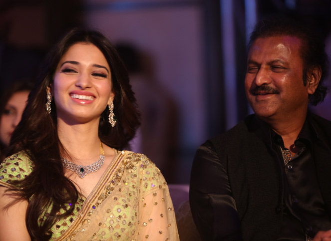 Tamannah and MohanBabu