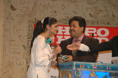 Prachi Desai with Rajeev Shukla