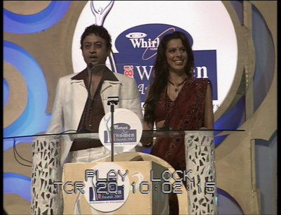Anchor Irrfan Khan and Pooja Bedi