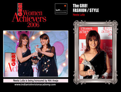 Neeta Lulla honoured by Nikki Aneja