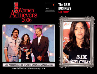 Ekta Kapoor honoured by Jackie Shroff and Zahir Abbas