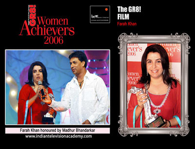 Farah Khan honoured by Madhur Bhandarkar
