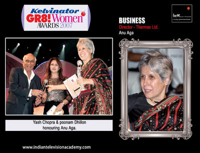 Yash Chopra and Poonam Dhillon honours Anu Aga