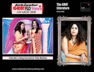 Anita Nair is being honoured by Yukta Mookhey
