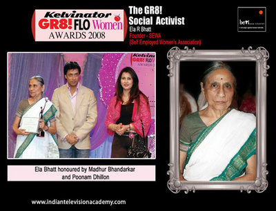 Madhur Bhandarkar and Poonam Dhillion honour Ela Bhatt