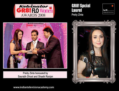 Saurabh Dhoot and Shashi Ranjan honour Preity Zinta