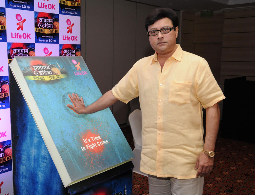Sachin Pilgaonkar at the press conference of Life OK's Savdhan India-Mumbai Fights Back