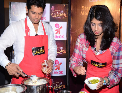 Amarr Upadhyay and Aishwarya Sakhuja prepare their desserts