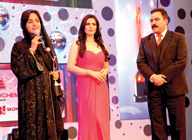 Zarine Khan and Pawan Kachroo  (MD- Khamass Hospitality) to Dr. Maryam Matar
