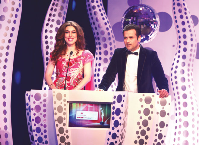 GR8! Anchor Rahaf Al Tawil and Rohit Roy
