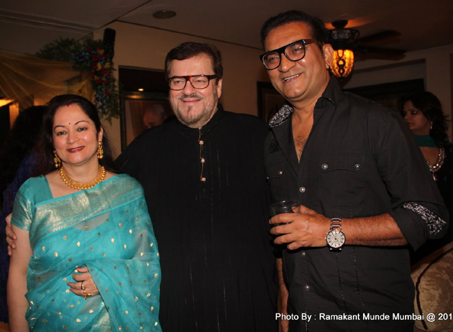 NISHI MUKESH ,NITIN MUKESH AND BDAY BOY ABHIJEET