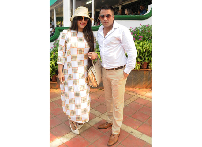 Mr. Waahiid Ali Khan with wife Shaista after winning