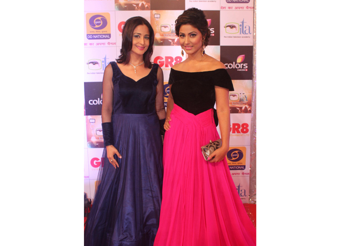 Hina Khan and Lata Sabharwal
